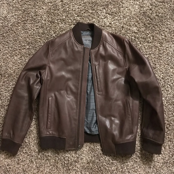 831823107 Cole Haan Leather Bomber